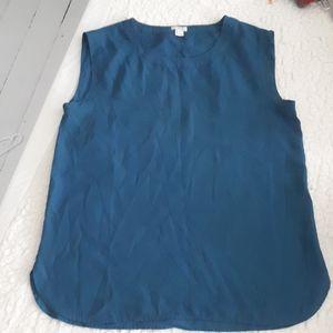 J.Crew tank blouse. Size M. Polyester
